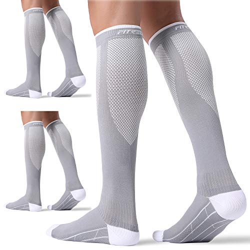 3 Pairs Compression Socks for Women and Men 20-30mmHg- Circulation