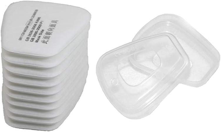 10 filtros de partículas de algodón y un par de retenedores de filtro.: Amazon.es: Bricolaje y herramientas