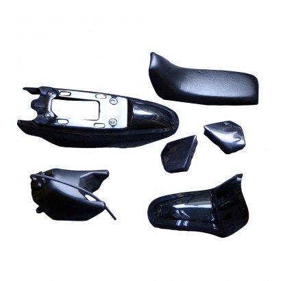 FLYPIG PLASTIC SEAT GAS TANK KIT FOR YAMAHA PW50 PW 50 - Black