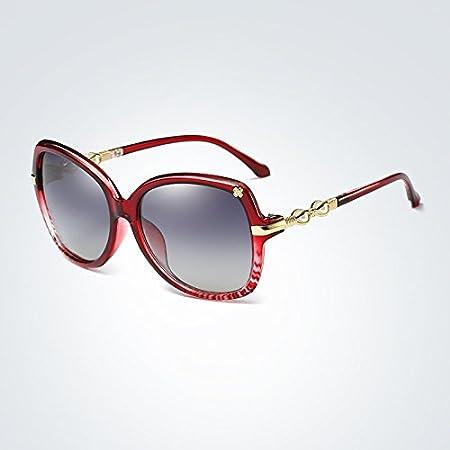 Xiaochou@sl Gafas de Sol polarizadas Nuevas Mujeres diseñador de la Marca de Moda Gafas de Sol ovaladas Marco Mariposa Lente de Verano gradiente Claro (Color : 3)