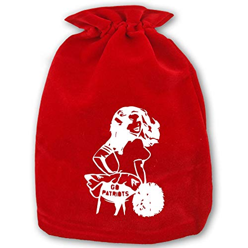 Christmas Go Patriots Drawstring Gift Bags 1 Pack, Santa Sack for Party Favors and Candy