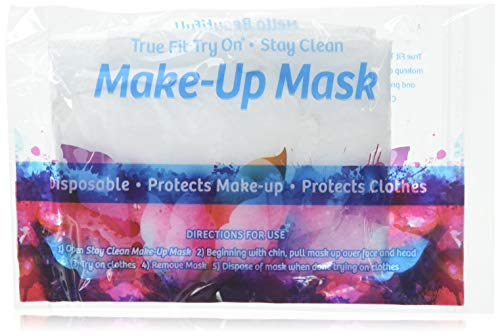 True Fit Try On Disposable Makeup Mask - Cosmetic Makeup Protector - Protects Face and Hair - 25 - Try Net