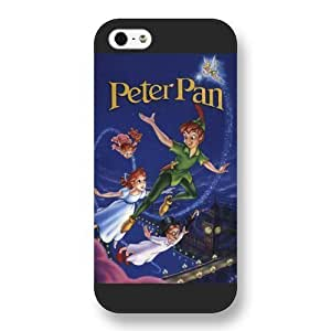 Customized Black Frosted Disney Cartoon Peter Pan iPhone 5 5s case