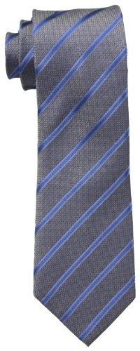 N Men's Stripe II Tie, Charcoal, One Size (Gray Stripe Tie)