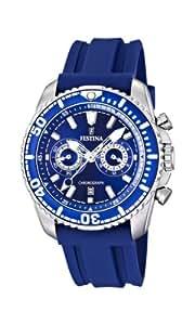 Festina F16574/3 - Reloj cronógrafo de cuarzo para hombre con correa de caucho, color azul