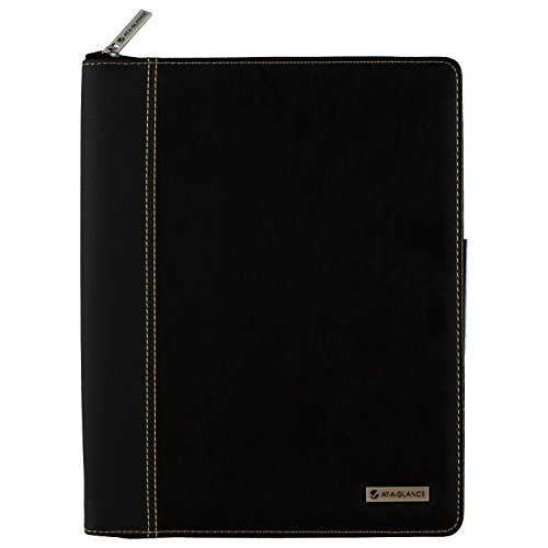 "AT-A-GLANCE Weekly / Monthly Appointment Book / Planner, January 2018 - December 2018, 8-1/4"" x 10-7/8"", Executive, Black (70NX8105)"