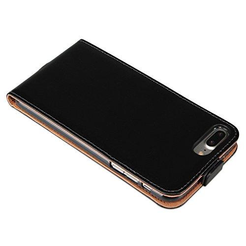 deinphone 2380010Apple iPhone 7Plus à rabat cuir enduit noir