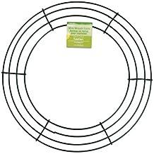 FloraCraft SimpleStyle 12 inch Wire Wreath, Green, 13 Gauge