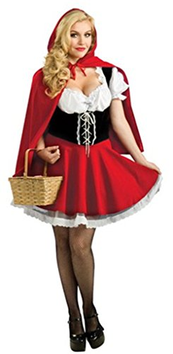 [Roundshop Women's Halloween Costume Little Red Riding Hood Dress and Cloak XXL] (League Of Legends Annie Cosplay Costume)