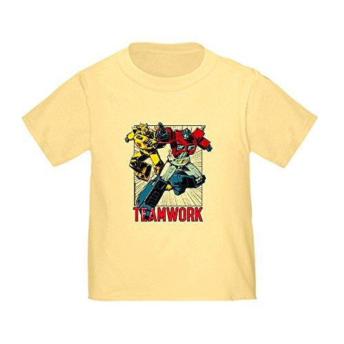 (CafePress Transformers Teamwork Cute Toddler T-Shirt, 100% Cotton Daffodil Yellow)
