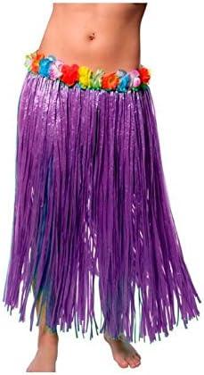 Falda Hawaiana Adulto Hula Lila (80 cm): Amazon.es: Juguetes y juegos