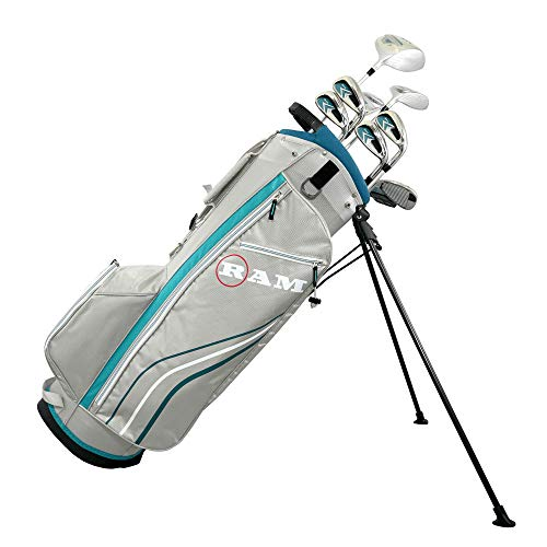 Ram Golf Accubar Golf Clubs Set – Graphite Shafted Woods and Irons – Ladies Right Hand