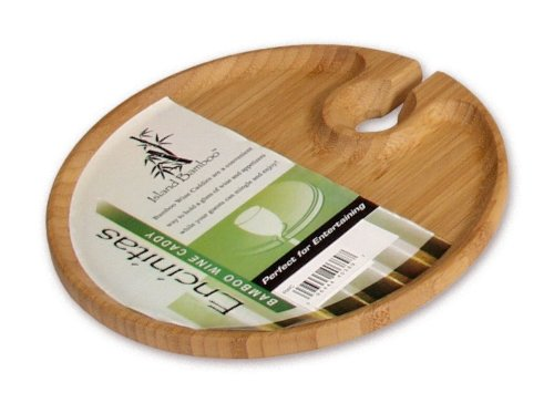 Island Bamboo RWC 8-Inch Round Wine Caddy