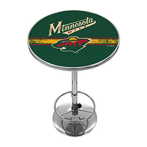 Trademark Gameroom NHL Minnesota Wild Chrome Pub Table ()