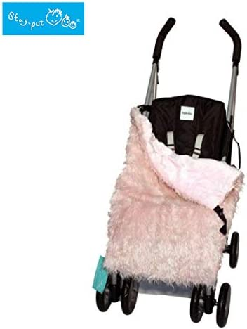 The Emporium Direct Stay Put Universal Buggy Pushchair Pink Faux Fur Reversible Baby Cosy Toes BB065