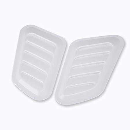 Negro GSDCNV Cubierta 2 Piezas Turbo Scoop Car Motor ventilaci/ón Cubre cap/ó de admisi/ón port/átil Bonnet Auto Decorativo Multiuso ABS Material