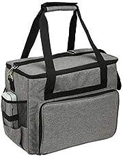 Draagtas voor naaimachines Waterdichte draagtas met opbergvakken Draagbare tas met ritssluiting voor de meeste standaard naaimachines Grijs
