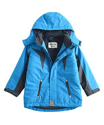 M2C Boys Thicken Warm Cotton Padded Ski Jackets Snow Wear with Hood
