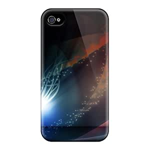 For TianMao Iphone Protective Case, High Quality For Iphone 4/4s Widescreen Abstract Skin Case Cover