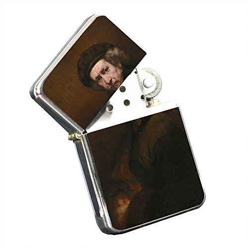 Rembrandt Van Rijn Self-Portrait - Silver Chrome Pocket Lighter by Elements of Space