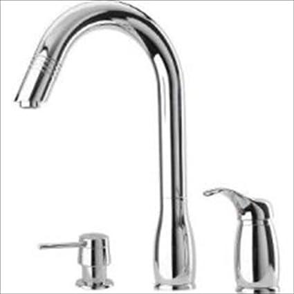 Pegasus Uscr492hd Gooseneck Pull Out Spray Kitchen Faucet Chrome