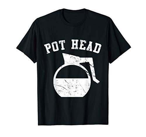 Pot Head T-shirt - Coffee Pot Head T-Shirt