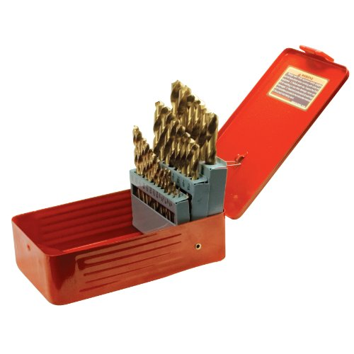 Performance Tool W9017 Drill Bit Set with Steel Case Titaniu