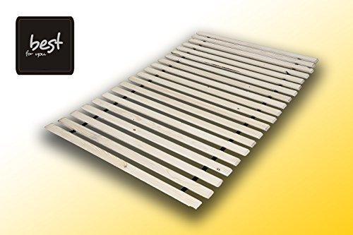 Best For You Rollrost aus 10,15 oder 20 massiven stabilen Holzlatten Geeignet für alle Matratzen - in 2 Grössen 90x200 cm und 140x200 cm (90x200-15)