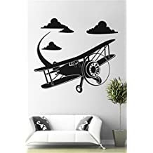 Percimiya Cloud & Airplane DIY Removable Wall Sticker Wall Art Decal Nursery Bedroom Home Decor