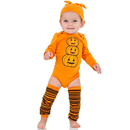 juDanzy Halloween & Christmas Baby Gift Box outfit set (6-9 Months, Jack-O-Lantern)