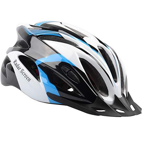 (Radar Screen Adult Bike Helmet for Men Women Bicycle Helmets with Removable Visor & Adjustable Dial & Removable Liner)