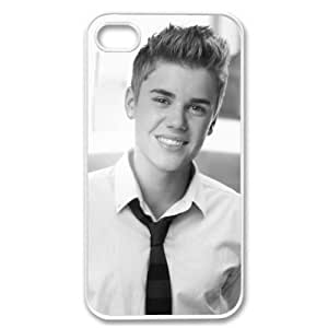 For Apple iphone 4 4G 4S Cute Bieber Justin Swag Suit Smile WHITE Sides Case Skin Cover Faceplate Protector Accessory