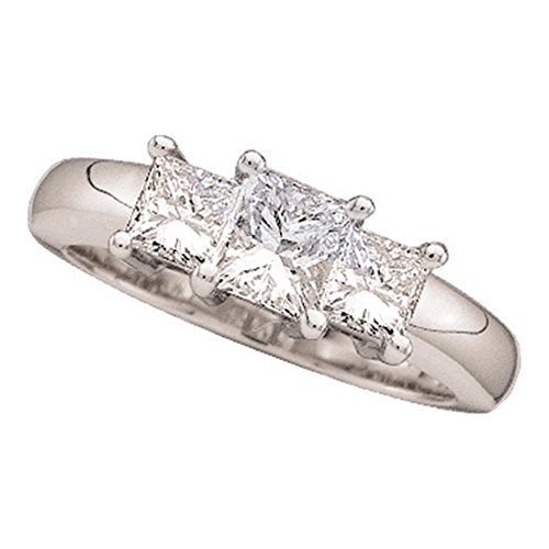 3 Stone Princess Ring Setting - 5