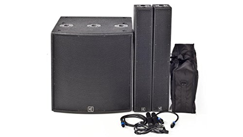 Carvin Audio TRC200A 2500W Complete TRx PA Column Array System With TRx3018A Active Subwoofer and TRx3903 Column Speakers (Complete Pa System Package compare prices)