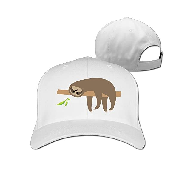 Sloth Lying On Tree Branch Cute Unisex Best Caps Beanies Hats -