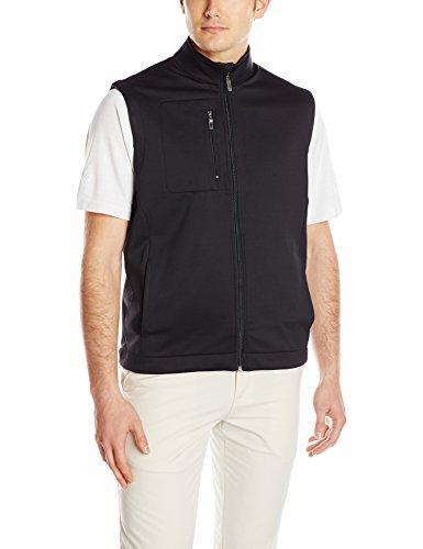Callaway Men's Golf Full Zip Sleeveless Fleece Vest, Black, 4X-Large