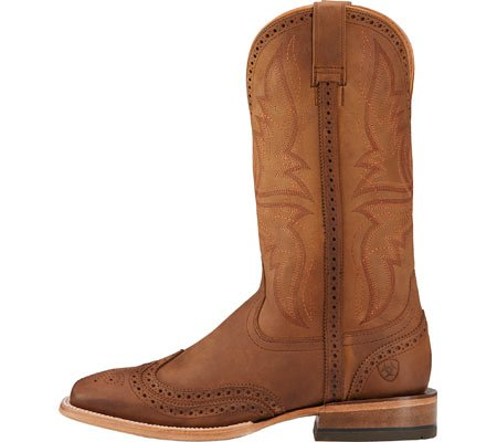 Ariat Mens Showman Crazy Tan Punta Quadrata Da Cowboy Boot Crazy Tan