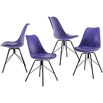 Amazon.com: Weinerbee Upholstered Dining Room Chairs Set ...