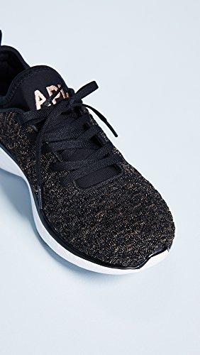 Apl: Athletic Propulsion Labs Mujeres Techloom Phantom Sneakers Black / Rose Gold / Melange