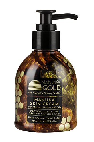 Manuka Skin Cream with Certified Australian Manuka Honey 5.64oz Pump Bottle by Nature's Gold - Best Natural Moisturizer - Soothes and Heals Dry, Itchy Skin - for Face and Body