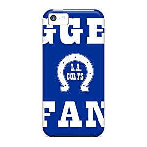 Iphone 5c XvY18031pcVk Unique Design Realistic Indianapolis Colts Image Perfect Hard Cell-phone Case -JoanneOickle