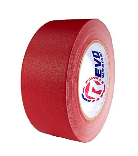 """REVO Premium Professional Gaffers Tape (2"""" x 30 yards) MADE IN USA (RED GAFFERS) Non Reflective Tape- Camera Tape- Better than Duct Tape (Black, Gray, Green, Red, White, Yellow) SINGLE ROLL"""