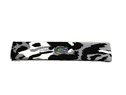 Bare Feet Embroidered Headband - Florida Gators Camo Headband ( Choose Color ) (Snow)