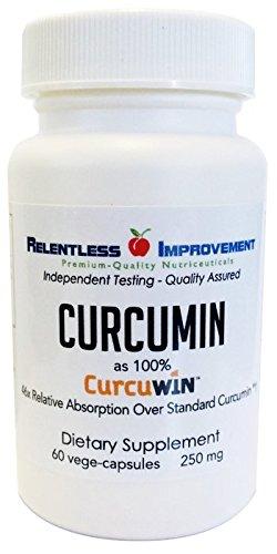 La curcumine (CurcuWin). 46x absorption relative cours standard curcumine suppléments. 60 Vegecaps.
