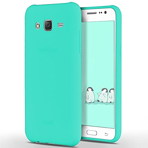 Funda Galaxy J5, Galaxy J5 Carcasa, SpiritSun Soft Carcasa Funda Diseño Mate Opaco Ultrafina TPU Bumper para Samsung Galaxy J5 2015 (5.0 pulgadas) Suave Silicona Piel Carcasa Ultra Delgado y Ligero Go Azul