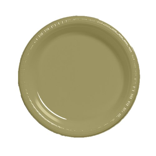 Creative Converting Touch of Color 20 Count Plastic Lunch Plates, Sage Green