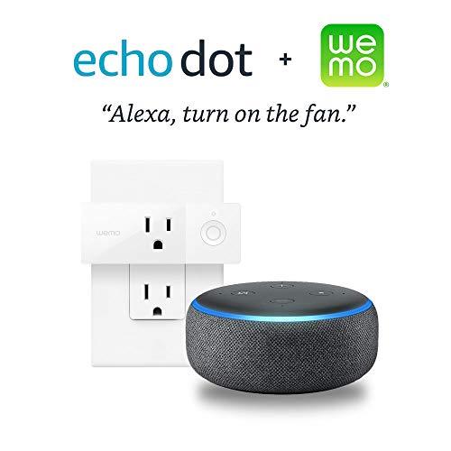 Echo Dot (3rd Gen) - Charcoal + Wemo Mini Smart Plug