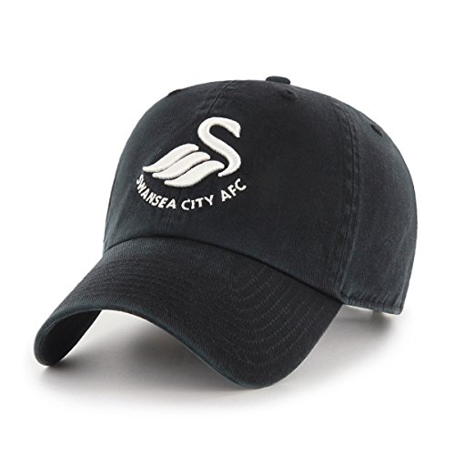 Swansea City Football - International Soccer Swansea City AFC EPL OTS Challenger Adjustable Hat, Black, One Size