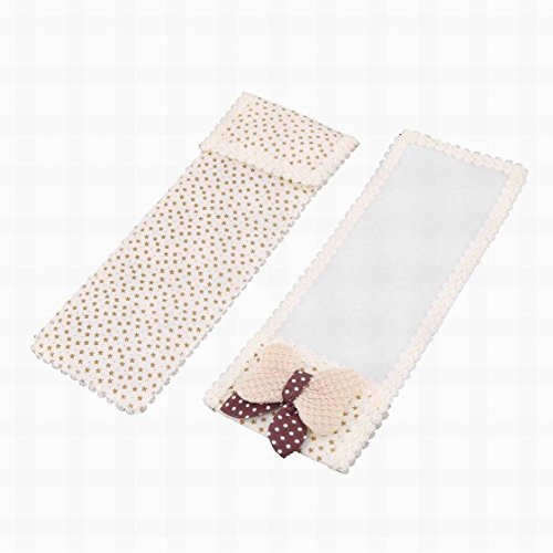 Uptell Cotton Blends Home Rectangular Butterfly Knot Decor Remote Control Pouch Cover Protector Butterfly White Protector Cover