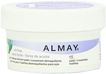 Amazon.com : Almay Oil Free Eye Makeup Remover Pads, 15 Count by Almay : Beauty